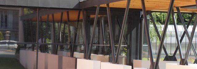 Vue extérieure film solaire anti chaleur pour vitrage IME Fondation Bellan