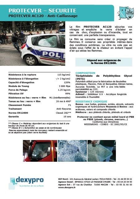 film anti caillassage pour véhicule utilitaire / Intervention