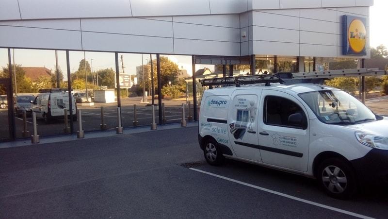 Pose film solaire anti chaleur lidl Besançon